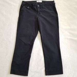 Black Stretch Cotton Capri Size 2